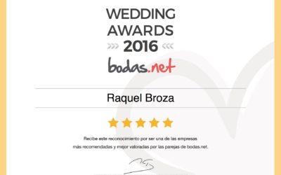 Galardonada por BODAS.NET!!!